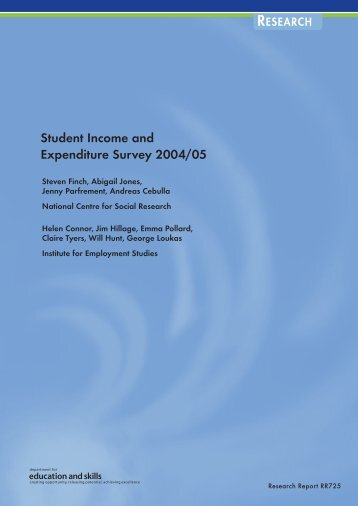 Student Income and Expenditure Survey 2004/05 - The Institute for ...