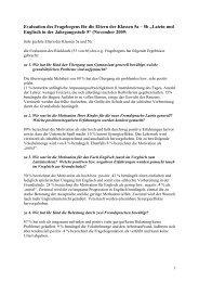 Evaluation des Fragebogens für die Eltern der Klassen 5a – 5b ...