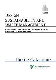 DESIGN, SUSTAINABILITY AND WASTE MANAGEMENT ... - KEA