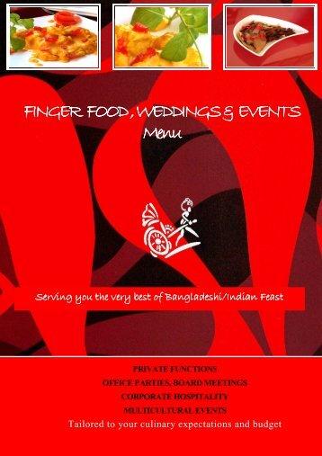 Finger Food & Outdoor catering menu