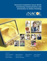 Examining Communication and Interaction in Online ... - iNACOL