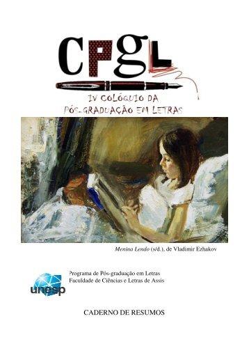 Caderno de Resumos - 2012 - UNESP-Assis