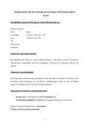 Kooperation und Verständigung im Zehnerball (pdf) - FSSport.de