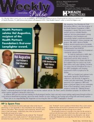Health Partners salutes Hal Augustine, recipient of the Health ...