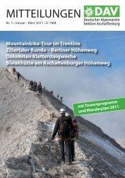 DAV Broschüre 1-2011.indd - Alpenverein-Aschaffenburg.de