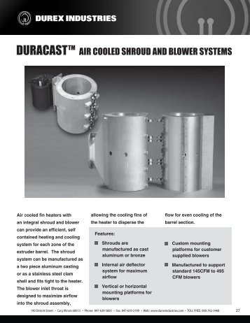 AIR COOLED SHROUD AND BLOWER SYSTEMS - Durex Industries
