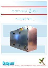 WWH - 2 (30-330 kW) Vand/vand varmepumpe - Bundgaard ...