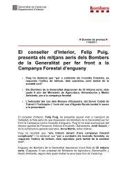dossier complet en pdf - Premsa - Generalitat de Catalunya