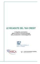 LE RICADUTE DEL TAX CREDIT - Anica