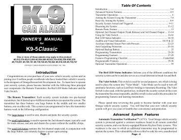 K9-5Classic - car alarm