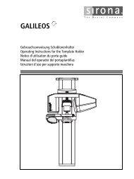 galileos - Sirona - Technical Documentation