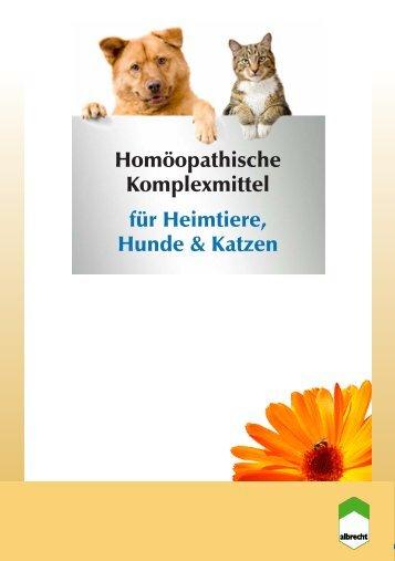 Homöopathische Komplexmittel für Heimtiere, Hunde ... - Albrecht