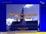 Statistical Analysis of BE Data - BEBAC • Consultancy Services for ...