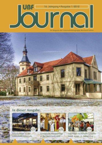 UBF Journal 01/2012 - Unternehmensgruppe Burchard Führer