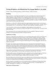 Förslag till åtgärder och allehanda tips för att gagna fågellivet i vår ...