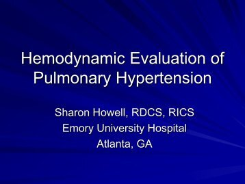 Hemodynamic Evaluation of Pulmonary Hypertension (1.89 MB)