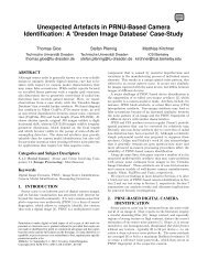 Unexpected Artefacts in PRNU-Based Camera Identification: A ...