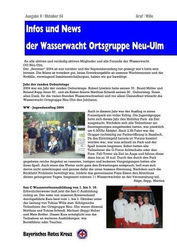 Infos und News 9 - Wasserwacht Ortsgruppe Neu-Ulm