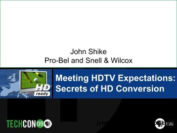 Optimizing Archival Storage and HDTV Conversions (Shike) - PBS