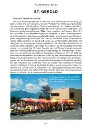 ST. GEROLD - Vorarlberger Walservereinigung