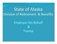 Retirement & Benefits On-Behalf and True-up