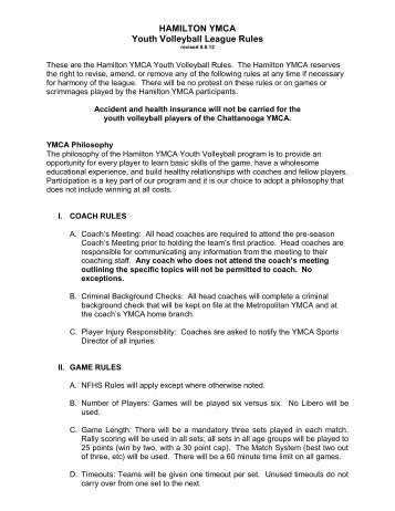 Volleyball Sample Practice Plan - Youth Sports YMCA