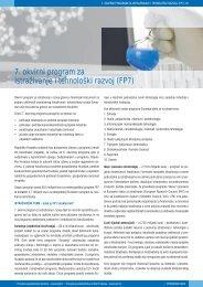 Programi Unije - FP7 - Europska poduzetnička mreža Hrvatske