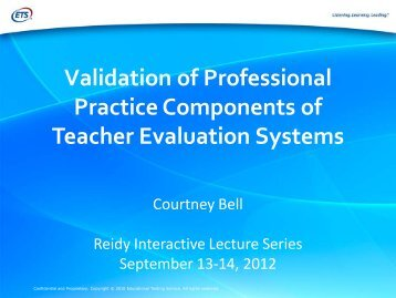 Validation of Professional Practice Components of Teacher ...