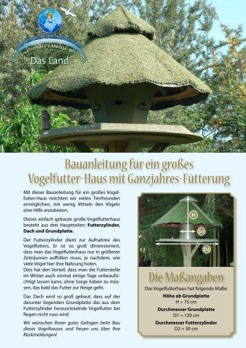 Bauanleitung für ein großes Vogelfutter-Haus mit ... - Gabriele-Stiftung