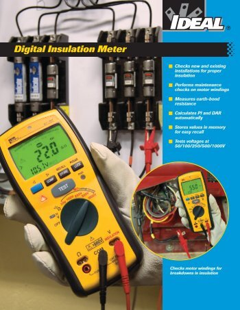61-797 Digital Insulation Meter Brochure - Ideal Industries