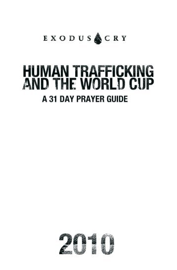 Exodus Cry - Don Brewster | Human trafficking | Pinterest