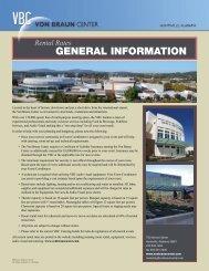 GENERAL INFORMATION - Von Braun Center