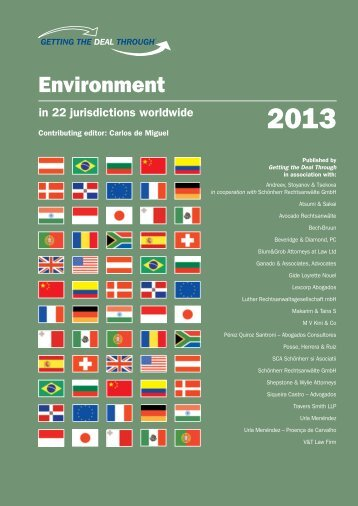 Getting the Deal Through - Environment 2013 - Beveridge & Diamond