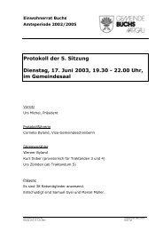 Protokoll der 5. Sitzung Dienstag, 17. Juni 2003 ... - Gemeinde Buchs