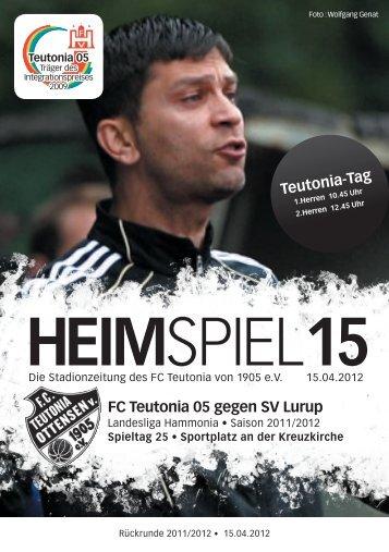Ja! Für eine Kunstrasen-Anlage in Ottensen! - FC Teutonia 05 eV