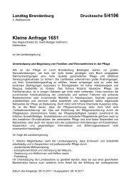 Kleine Anfrage 1651 - DIE LINKE. Dr. Gerd-Rüdiger Hoffmann