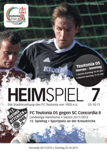 Heimspiel 7, T05 - SC Concordia II - FC Teutonia 05 eV