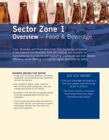 Food and Beverage Sector - Partners in Project Green