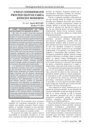 Unele consideraţii privind dezvoltarea ştiinţei moderne - IDSI