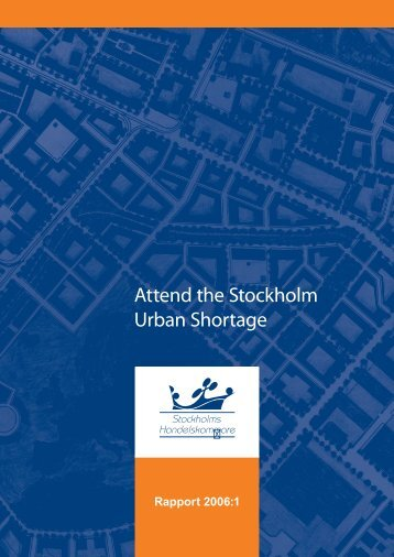 Attend the Stockholm Urban Shortage