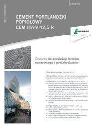 Karta produktowa cementu CEM II A-V 42,5 R - Lafarge