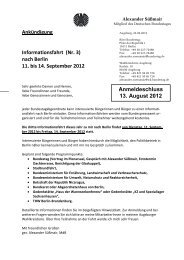 nach Berlin 11. bis 14. September 2012 - Die Linke. Bayern