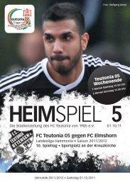 Heimspiel 5, T05 - Elmshorn - FC Teutonia 05 eV