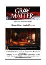 Gray Matter - Lockes Lösung zum 3. Kapitel - Gamepad.de