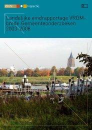 Landelijke eindrapportage VROM - Inspectie Leefomgeving en ...