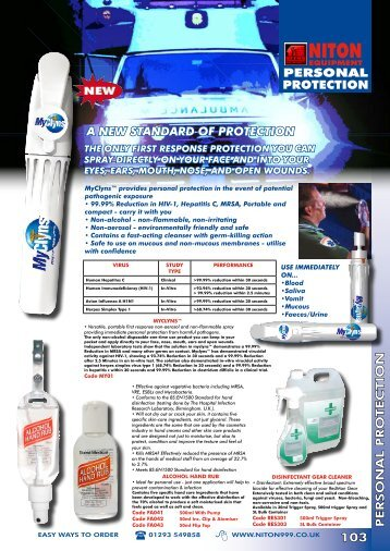 a new standard of protection - Niton 999 Equipment