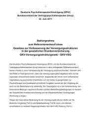 Stellungnahme zum Referentenentwurf eines Gesetzes zur ... - DPtV