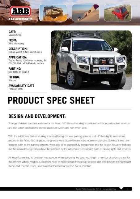 Toyota Prado Deluxe Bull Bars || www arb com au