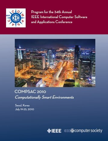 Final Program - COMPSAC 2012 - Iowa State University