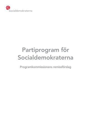 Partiprogram för Socialdemokraterna